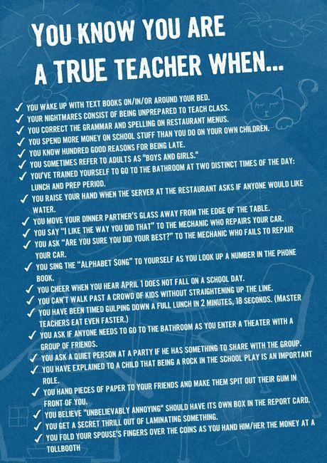 Funny! : True Teacher, Teacher Stuff, Schools, Teaching, Teacher Funny, Education, Bad Teacher Quotes, Classroom Ideas, Teacher Humor