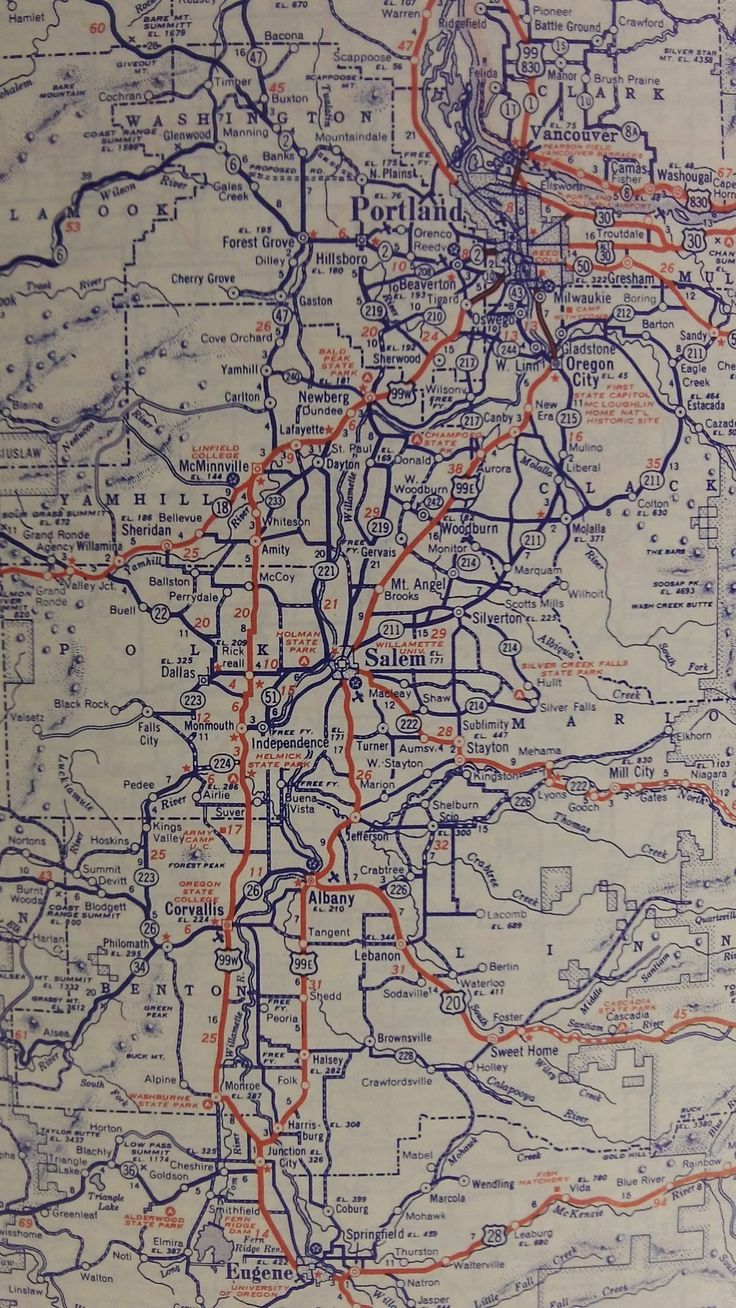 A View of Willamette Valley Roads 1943