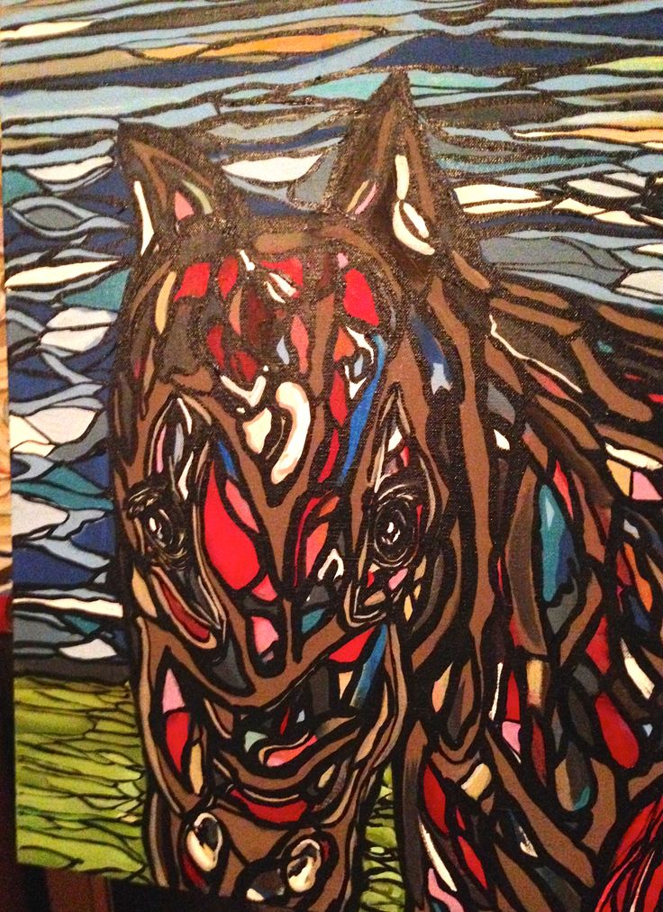 (part of ) RCMP painting..horse
