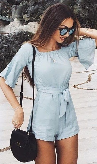 Baby Blue Playsuit                                                                             Source