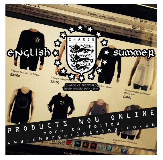 New English Summer range online now www.chargeclothing.com