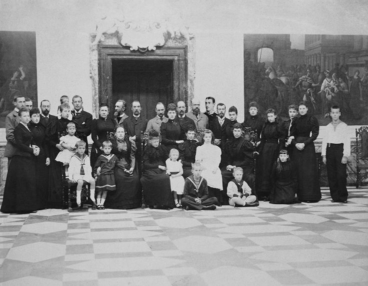 Royal Group photograph in Denmark . Creator: Emil Hohlenberg (1841-1901) (photographer) circa 1890 - 1893