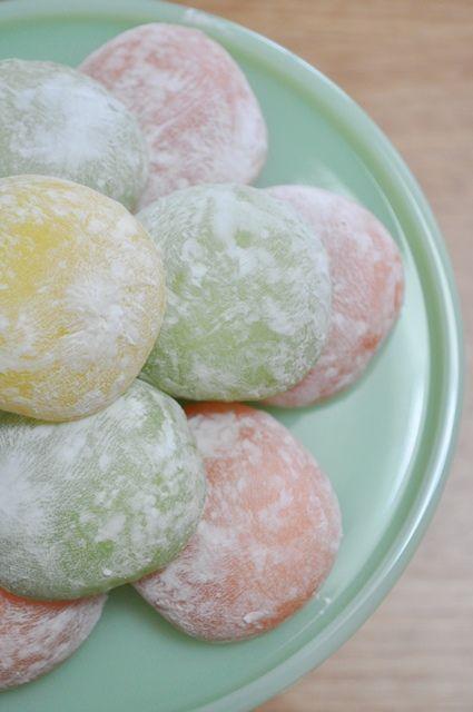 Japanese mochi balls