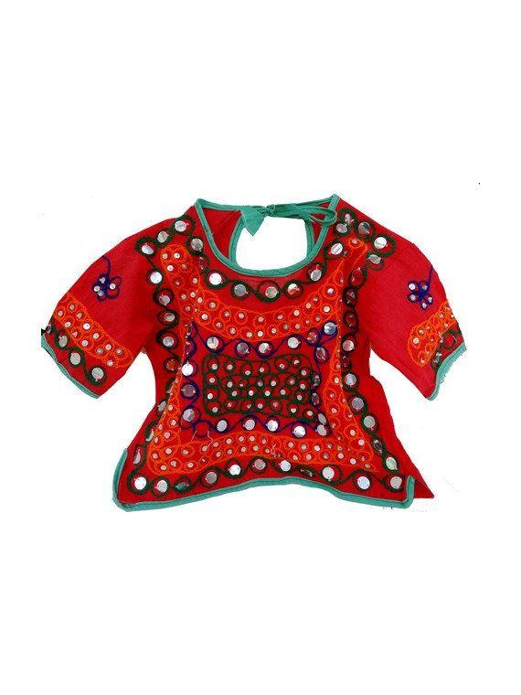 70s vtg INDIA  handmade  Bohemian kid TUNIC // vintage by jolimome, $39.00