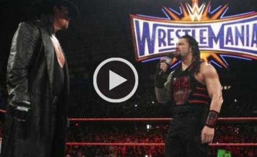 Roman Reigns VS Undertaker Match Result Wrestlemania 33 Video 2 April 2017-WWE Raw