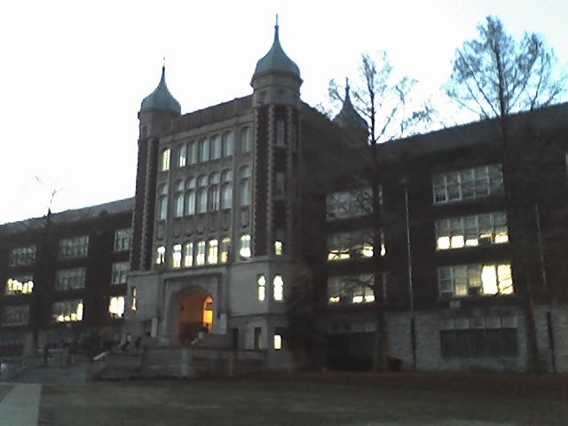 Roosevelt High School, Missouri - Part of the schools campus was built on an old cemetery, only the Head stones of the graves were moved to another location but the actual bodies remained in place. Many people have claimed to have seen apparitions walking on the football field, which is were part of the cemetery was, only to vanish into thin air.    Also