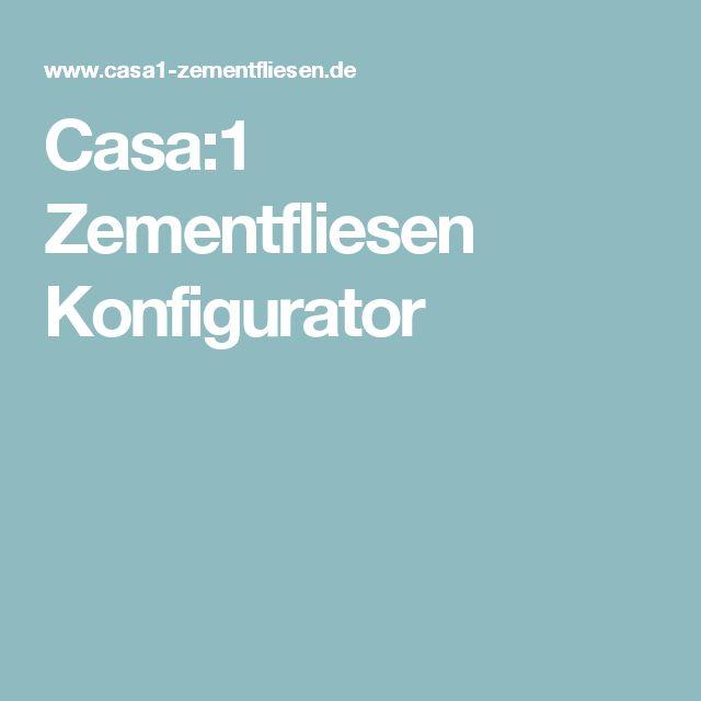 Casa:1 Zementfliesen Konfigurator
