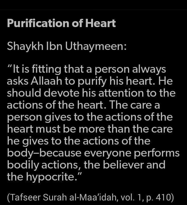 Purification of the hearts