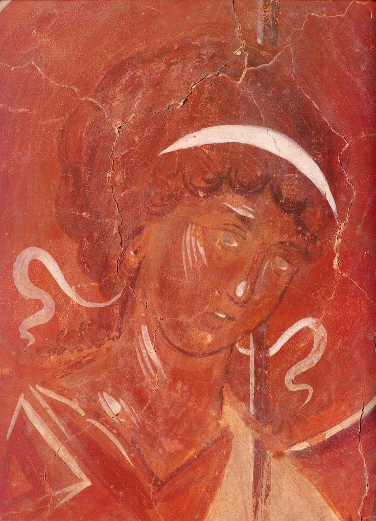 Левый ангел, церковь Спаса Преображения на Ильине улице, Феофан Грек, 1378 г