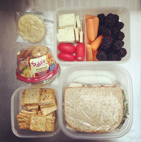 Bring snacks. | Airline food is kinda gross, plus all the snacks they offer are salty and will just dehydrate you even more. Pack some easy-to-transport snacks like raw veggies, nuts, and crackers, or have a look at these ideas. Also, we all know how atrocious the coffee and tea is on board. Bring some luxe teabags from home if you want that caffeine hit without the battery acid taste.