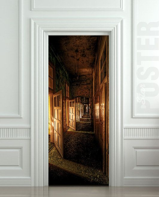 64 best door decals images on pinterest door stickers interior wall door sticker corridor hall hallway entrance mural decole film self adhesive poster sold by pulaton shop more products from pulaton on storenvy planetlyrics Image collections