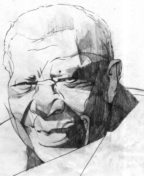BB King study created for Rolling Stone magazine.  Artist: Sterling Hundley