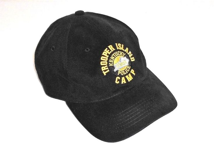 Trooper Island Kentucky State Police Camp Black Vented Adjustable Fit Hat Cap #DUKES #TruckerBaseballCapHat