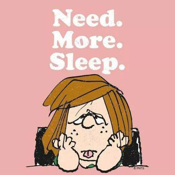 Peppermint Patty - need more sleep