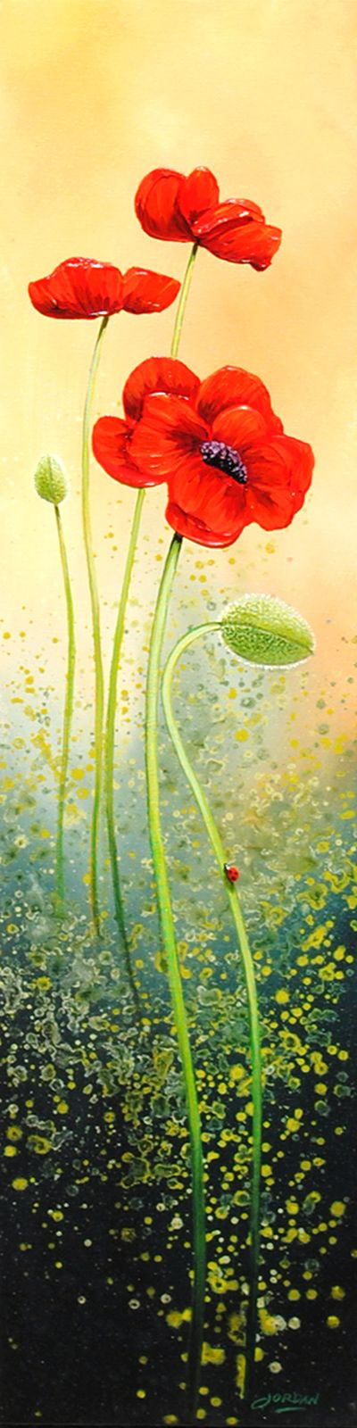 Poppies and Buds by artist Jordan Hicks.