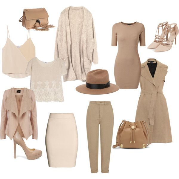 Nude by blondavapotvora on Polyvore featuring Chelsea Flower, MANGO, Theory, Oasis, Topshop, H&M, Steve Madden, Gucci, Vince Camuto and Brixton