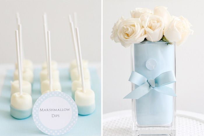 Marshmallow dips. So pretty and easy to color-coordinate for a dessert bar.