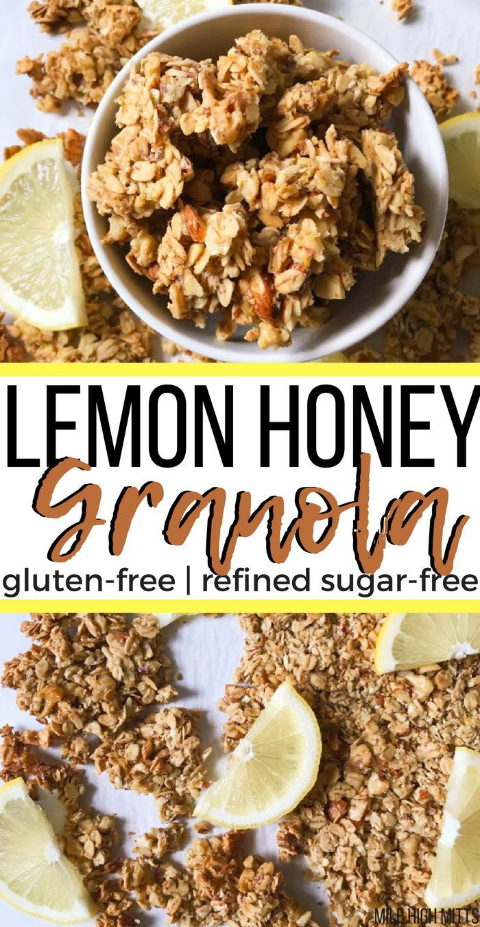 This homemade Lemon Honey Granola recipe is healthy and easy, with big chunky clusters. Gluten-free, refined sugar-free and only 7 ingredients! A grea...
