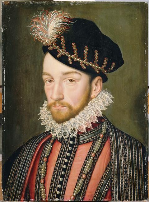 1563 - studio of François Clouet - portrait of Charles IX, King of France (1550-1574)