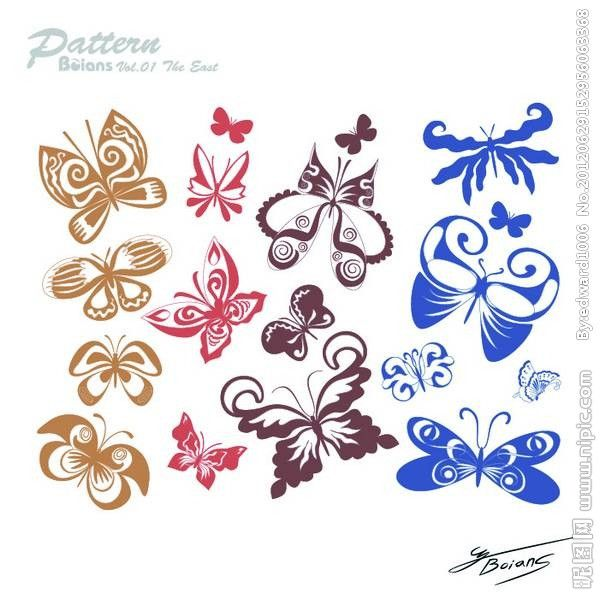 Butterfly Caidie material de vectores