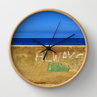 Always Wall Clock by Silvia Ganora - $30.00