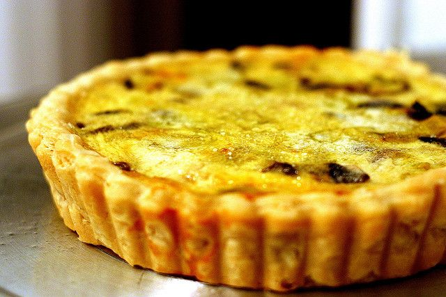 Leek and mushroom quiche (combining two Julia Child recipes) via smittenkitchen.com