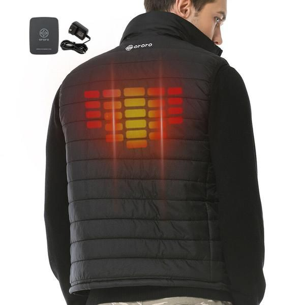 Ororo Men S Heated Down Vest Motorcycle Hunting Hiking Mobile