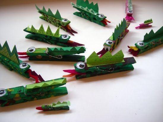 dragon con pinzas de la ropa