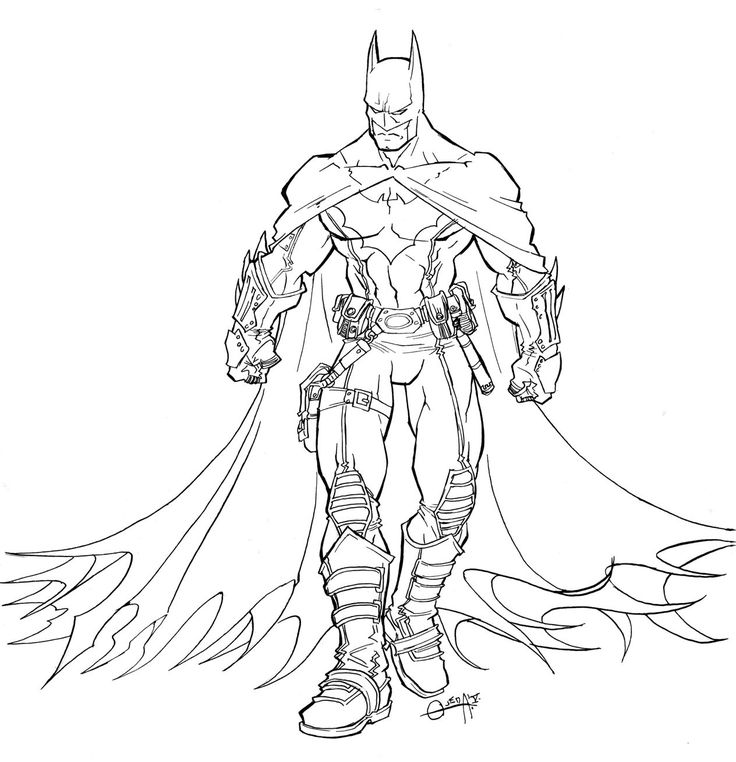 Batman Coloring Page For Boys Pages