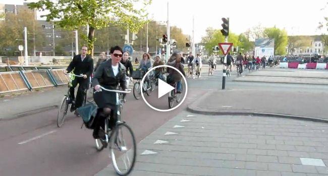 """Veja Como é a """"Hora De Ponta"""" Na Holanda"""
