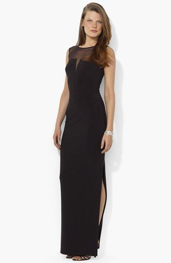 Lauren Ralph Lauren Illusion Yoke Matte Jersey Gown | Nordstrom...wish i had something to wear this to.