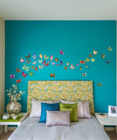 Interior Butterfly Bedroom Ideas best 25 butterfly wall ideas on pinterest decor this 3 d butterflies decal set is perfect zulilyfinds upstairs bedroomkids bedroombedroom ideasbutterfly