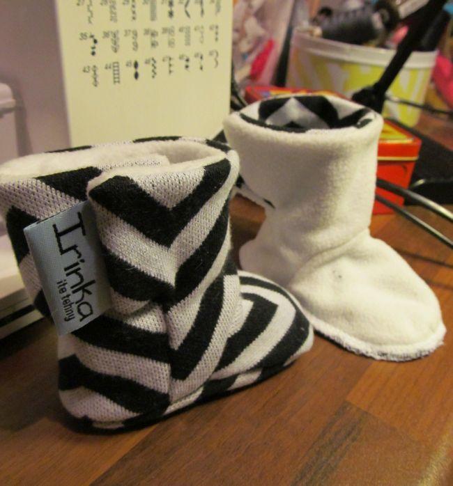 Irinka itseteossa: Vauvan tossut Baby boots +kaava