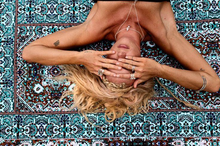 Wandering Folk picnic rug featuring Sally mustang