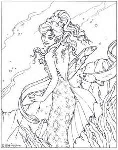 detailed coloring pages for adults bing images - Mermaid Coloring Pages Adults