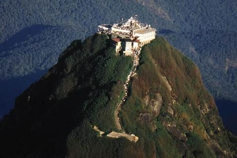 Adam's Peak - also called the 'butterfly mountain' because of the myriads of small butterflies that fly from all over the island to die upon the sacred mountain.