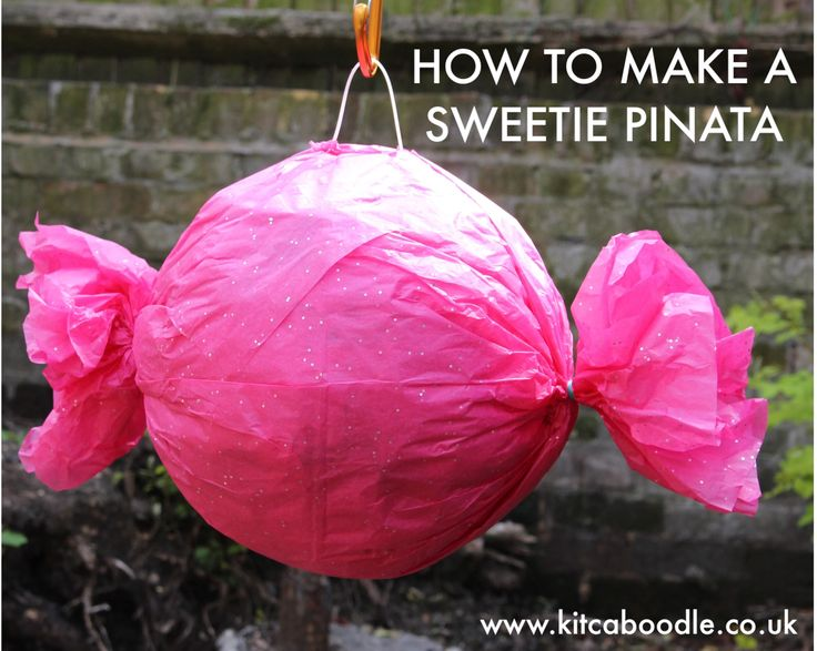 How To Make A Sweetie Piñata | Party Inspiration From Kit & Caboodle Parties | Charlie And The Chocolate Factory Party Ideas                                                                                                                                                                                 More