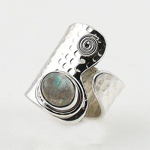 Labradorite Sterling Silver Adjustable Ring