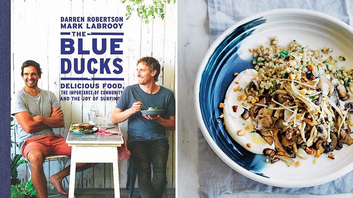 "The Blue Ducks by Darren Robertson and Mark Labrooy. The subtitle ""Delicious food, the importance of community and the joy of surfing"", pretty much says it all!"