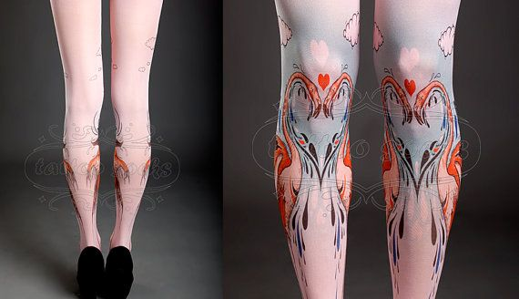 NEW light pink one size Flamingo Love full length by tattoosocks, $33.00