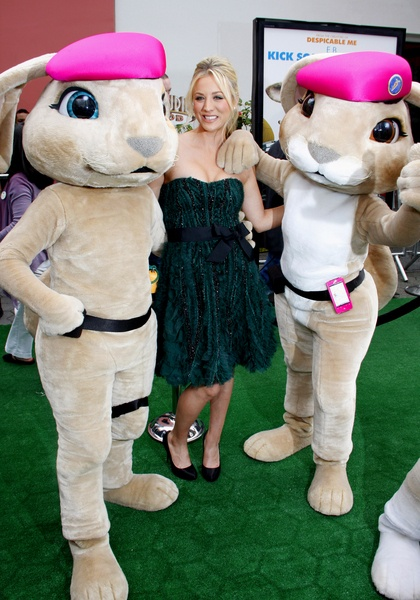 Kaley Cuoco was all smiles as she attended the Los Angeles premiere of Hop held at Universal Studios Hollywood. The Big Bang Theory actress stars in Hop as well as James Marsden and Russell Brand, who takes on the voice of the Easter Bunny's teenage son.