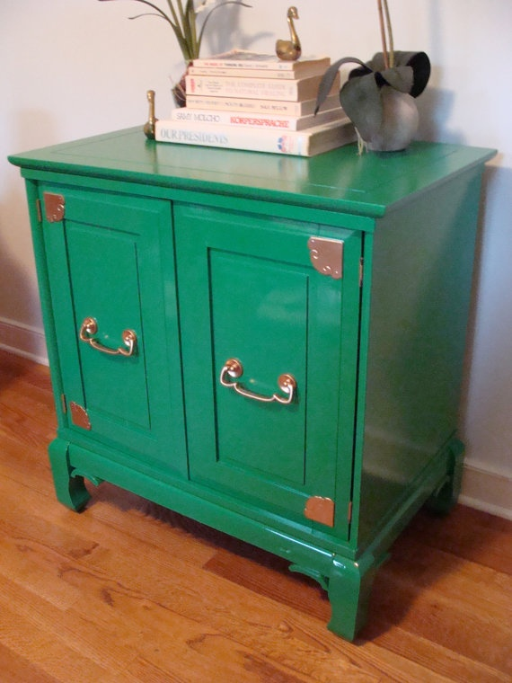 Emerald Asian Chest Chinoiserie Cabinet Hollywood Regency Unique Console ·  Asian FurnitureColorful ...