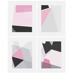 Set of 4 Geo Modern Wall Art Prints