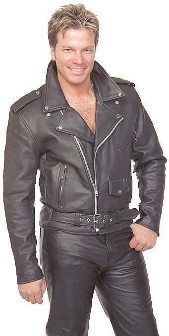 Classic Leather Motorcycle Jacket for Men #M110EC #JaminLeather #Deals #HolidayGifts #GiftsUnder100 #GiftsForHim