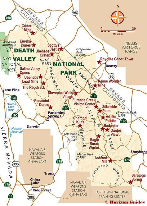 Death Valley National Park Map | Death Valley National Park in 2018 ...
