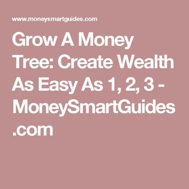 Grow A Money Tree: Create Wealth As Easy As 1, 2, 3 - MoneySmartGuides.com