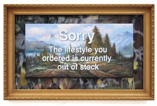 New Banksy Paintings – Ballerina, Lifestyle Out Of Order, Parliament & More