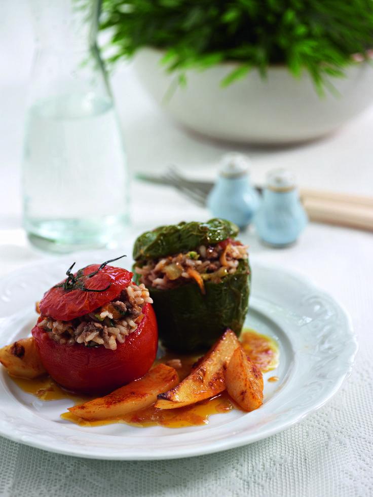 ▪ Stuffed Vegetables with minced meat and rice. ~ Greek Gemista. ▪ Γεμιστά με κιμά & ρύζι.
