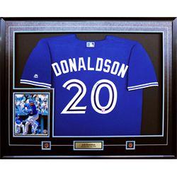 Donaldson,J Signed Jersey Framed Blue Jays Replica Blue