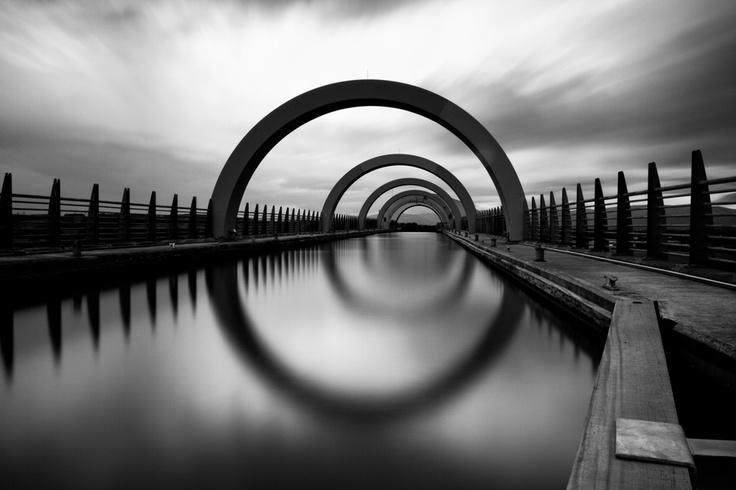 Falkirk Wheel - Scotland: Rad Photos, Architecture Exposure, Exposure Cloud, Exposure Photography, Breathtak Photography, Falkirk Wheels, Photography Monochrome, Art Photos, Blackandwhit Photography